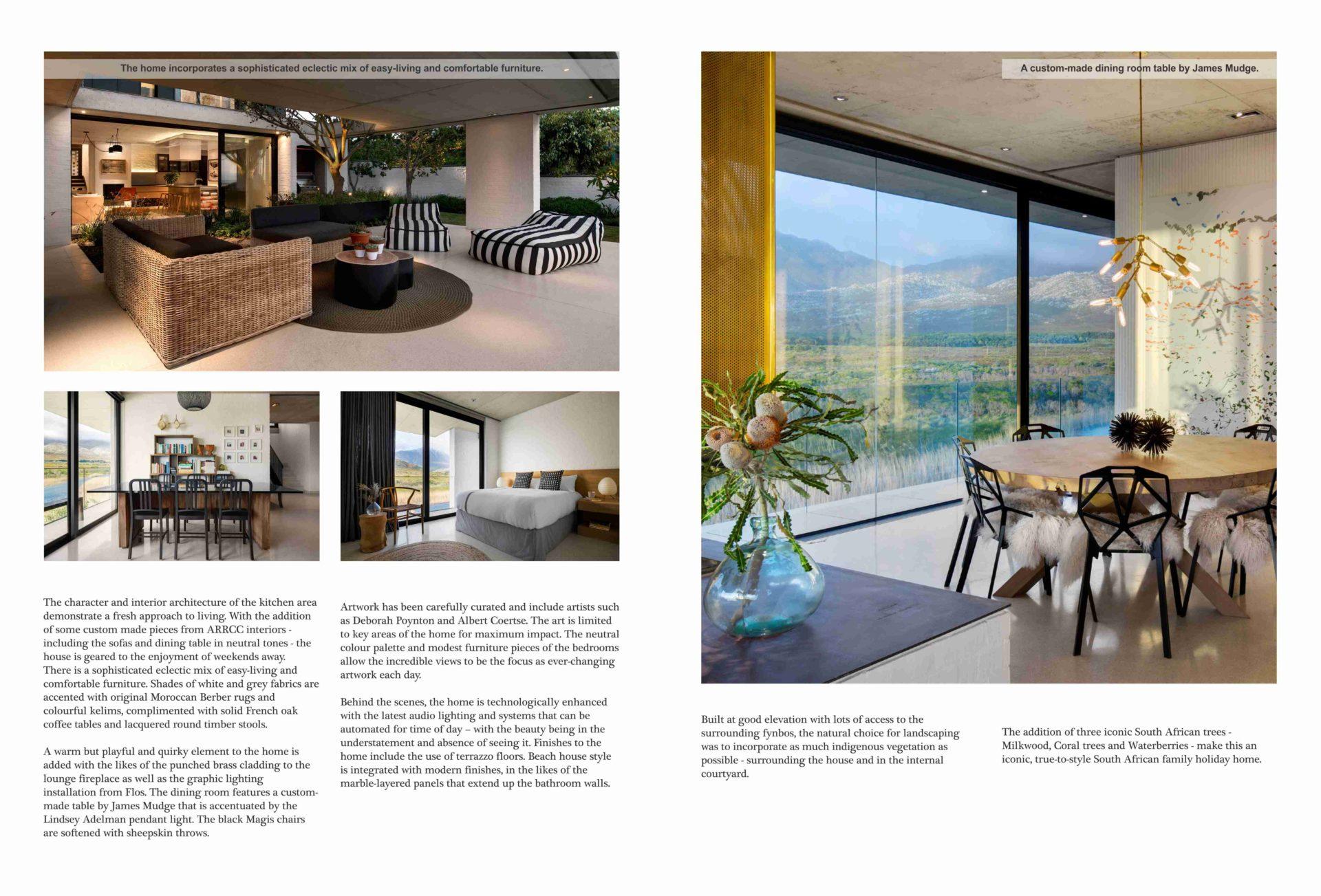 Restio River House, Pringle Bay In Interior Exterior Magazine