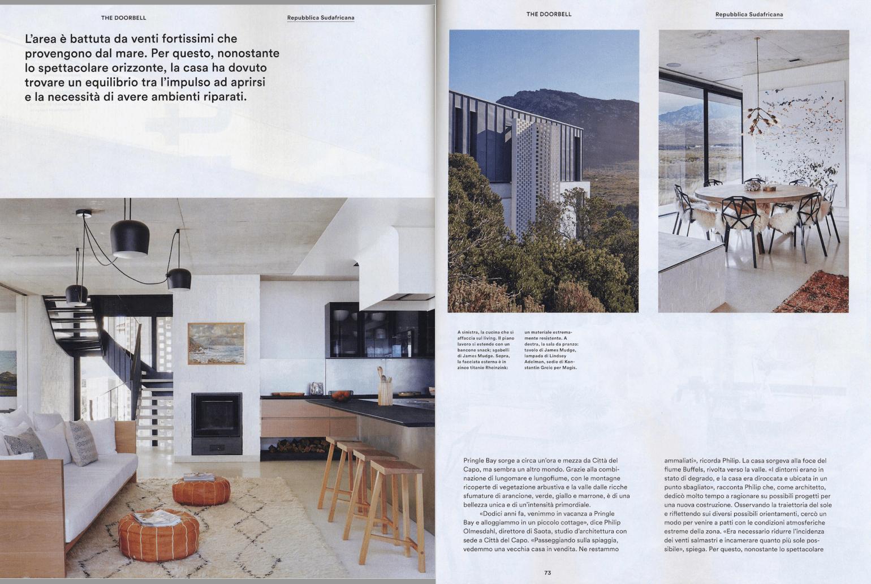 Lampade Sopra Tavolo Da Pranzo restio river house, pringle bay in icon magazine - saota