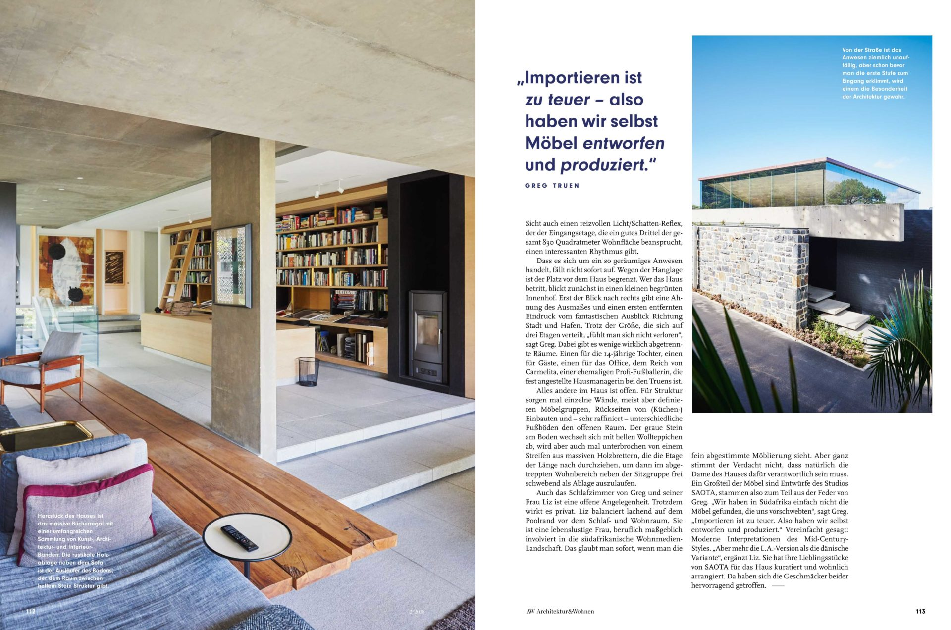 Kloof 119A, Cape Town in Architektur & Wohnen Magazine - SAOTA ...